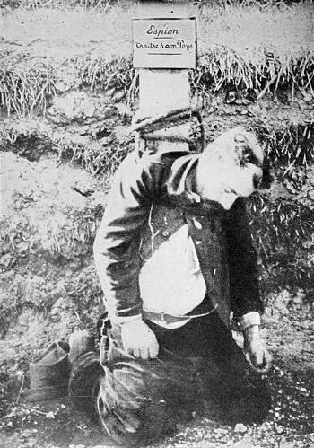 Hingerichteter französischer Soldat