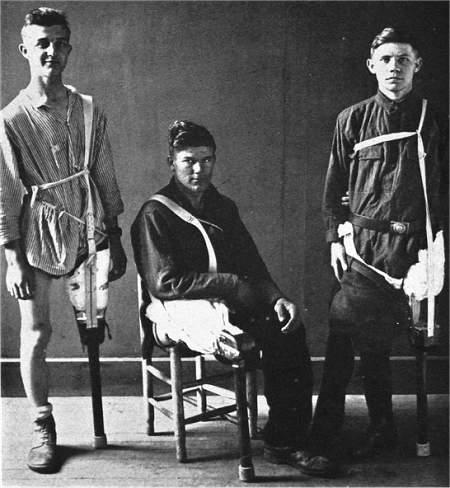 Amerikanische Kriegsversehrte des 1. Weltkriegs