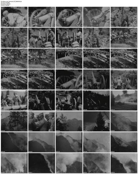 Filmaufnahmen aus dem 1. Weltkrieg
